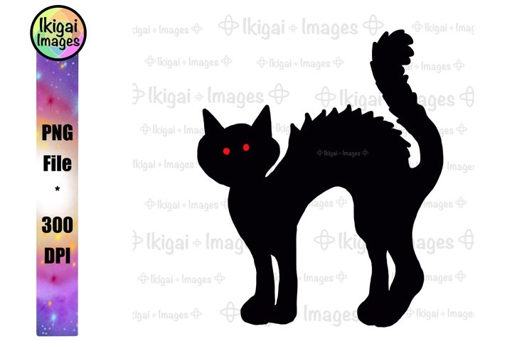 Black Cat Silhouette PNG, Halloween Animals, Spooky Kitty