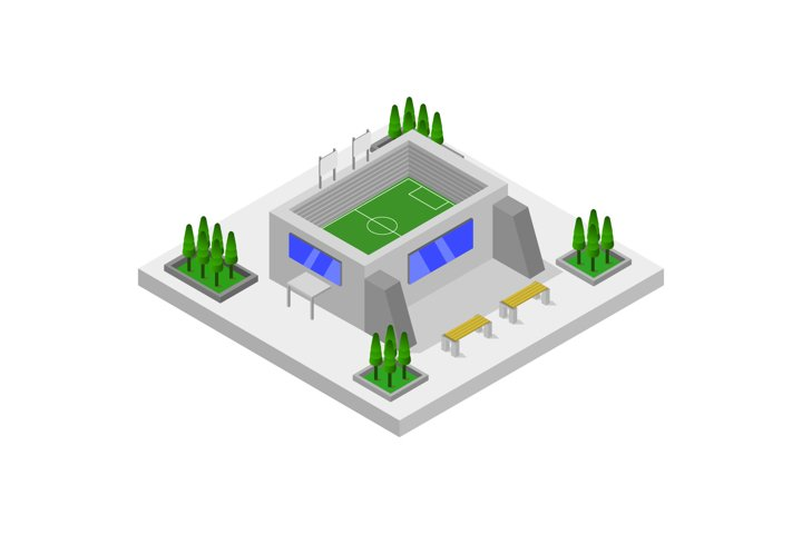isometric stadium