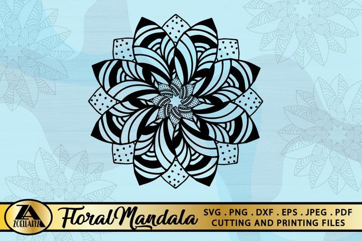 Flower SVG Hand-Drawn Flower SVG Flower Mandala SVG Cut File