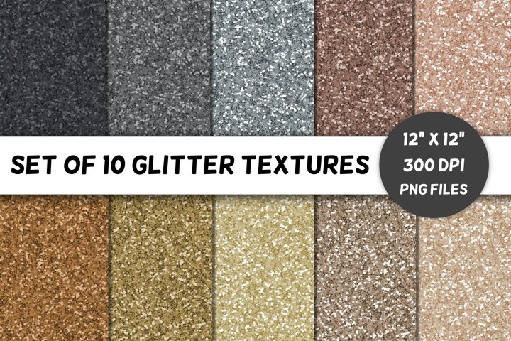 Glitter Backgrounds / Textures / Paper / Neutrals / Volume 4