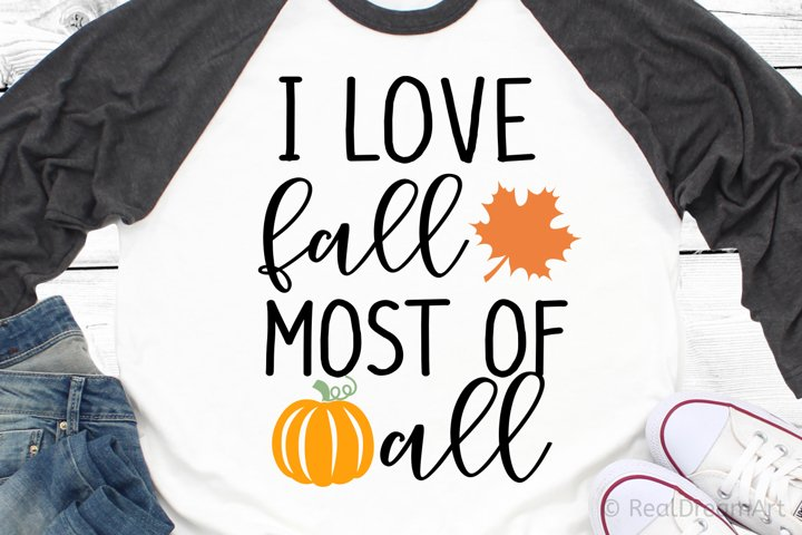 I Love Fall Most of All SVG, DXF, PNG, EPS