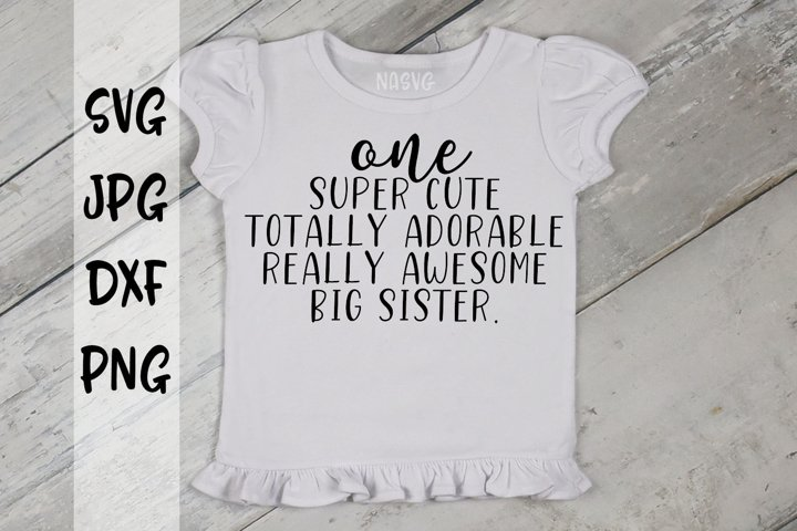 One Super Cute Totally Adorable Really Awesome Big Sister