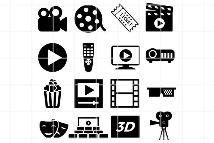 Cinema SVG. Movie SVG. Cinema cut files. Movie cutting files
