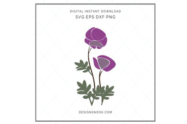 Hand drawn flowers - SVG