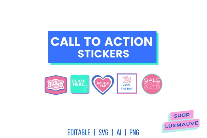 Call to action stickers