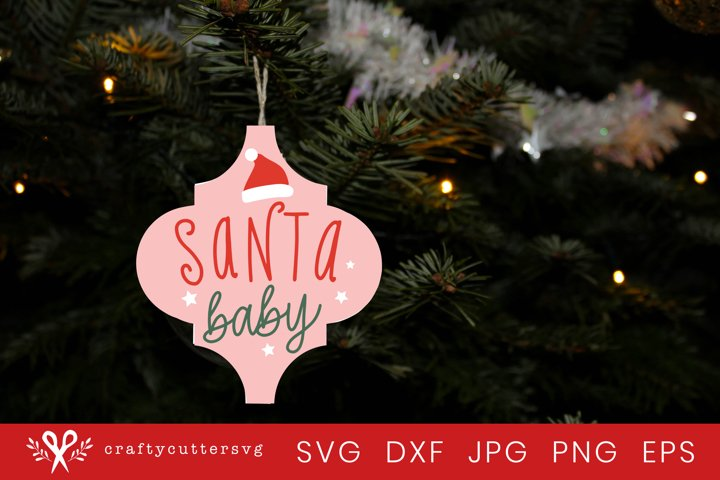 Arabesque Christmas Ornament Svg | Santa Baby Svg