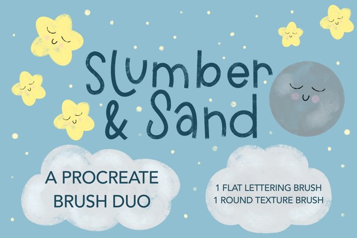 Slumber and Sand a Textured Procreate Brush Duo