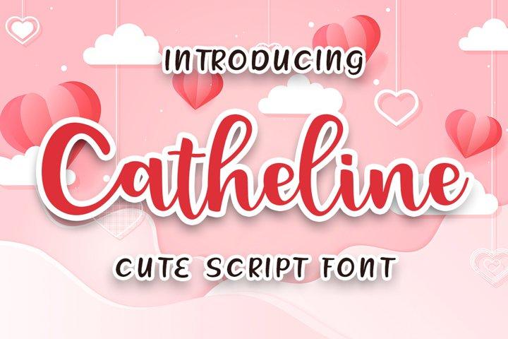 Catheline Cute Script Font