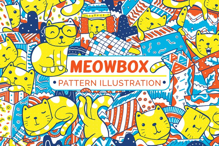 Mewbox Pattern Illustration
