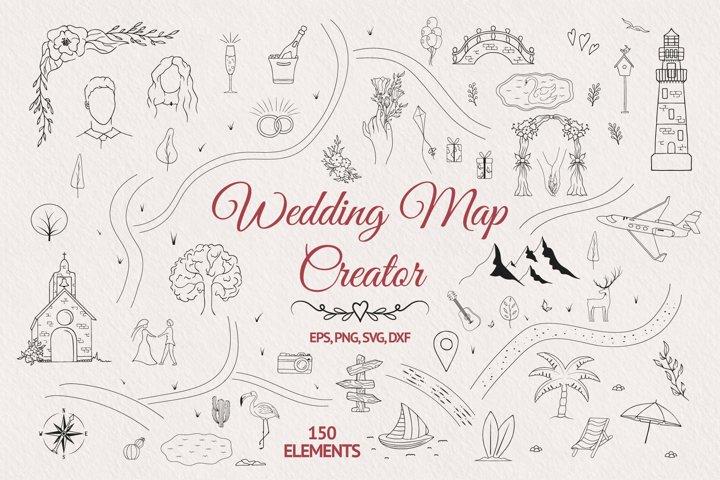 Hand drawn Wedding Map Creator