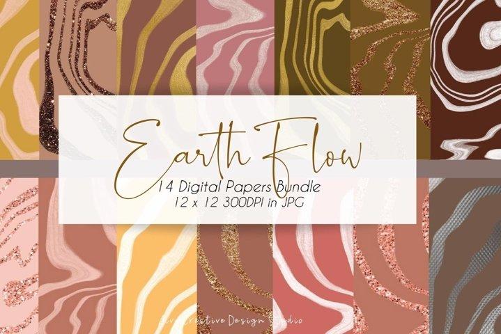 Earth Tones x Boho Digital Papers Pack