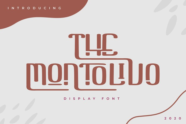 The Montolivo | Display Font