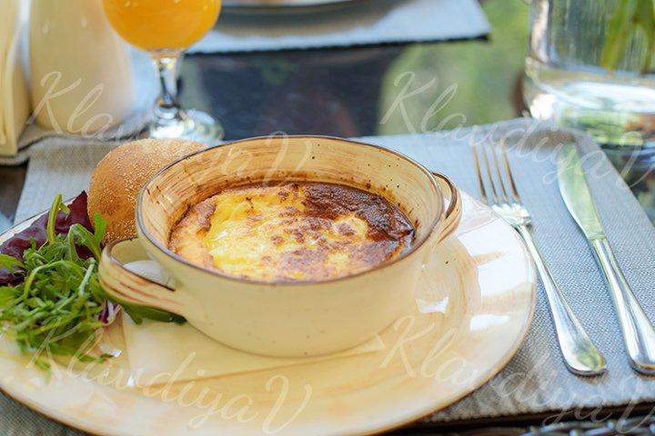Breakfast on the summer veranda