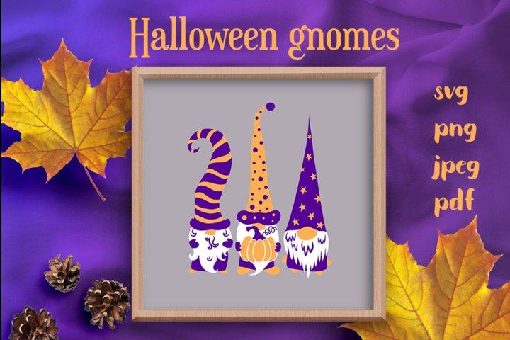 Halloween gnomes svg cutting files