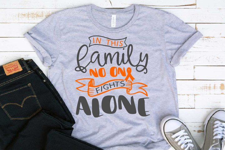 In this family no-one fights alone Leukemia Cancer Svg 1562