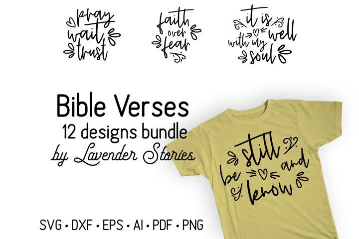 Bible verses bundle - Christian SVG bundle - Religious SVG