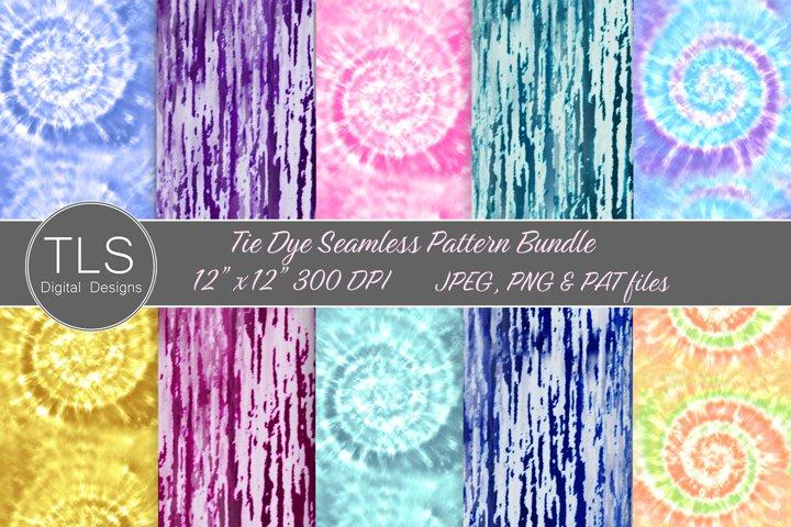 Tie-Dye Seamless Pattern Bundle, Tie-Dye Digital Paper