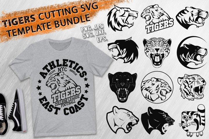 Tigers, Cats Cutting SVG Template Bundle & t-shirt print