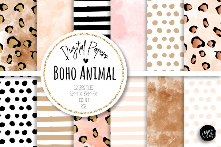 Boho Digital Papers Set