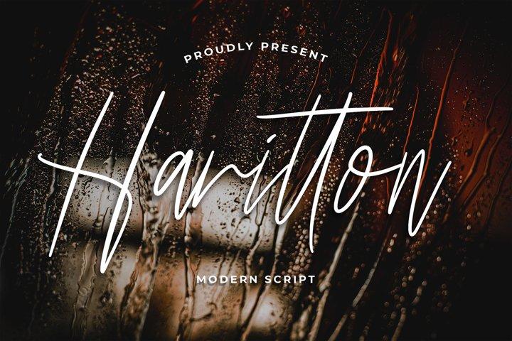 Harritton Modern Script Font