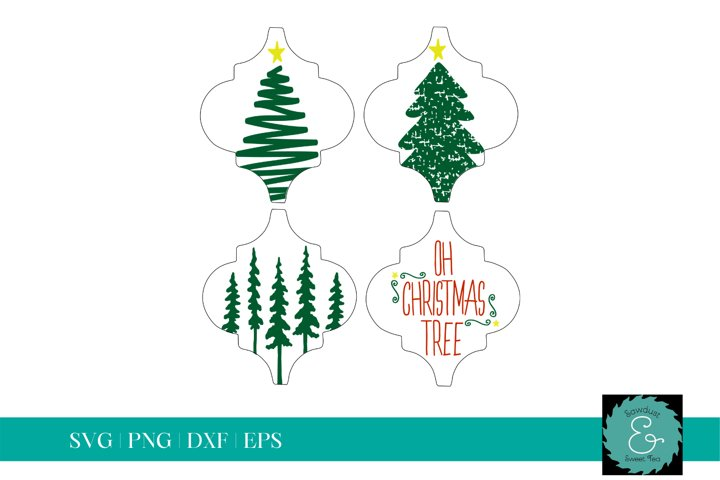 Tile Ornament SVG, Arabesque Tile SVG, Christmas Tree SVG