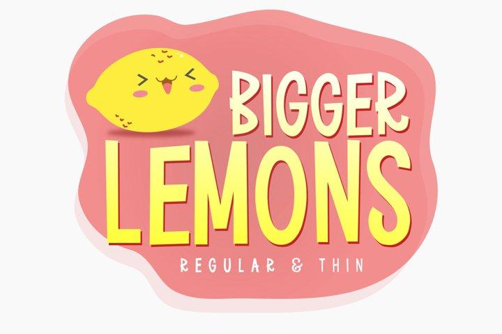Bigger Lemons