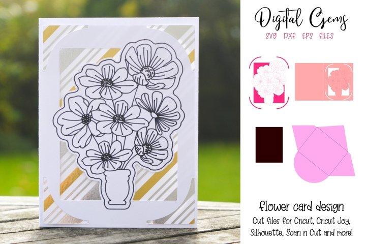 Flower card design! Now compatible with the Cricut Joy!