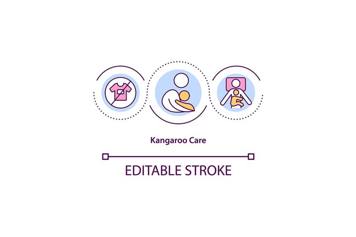 Kangaroo care concept icon
