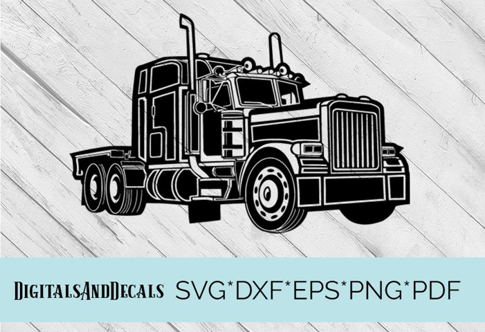 Truck, Lorry, HGV  SVG Cutting File
