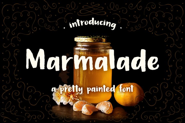Marmalade, a hand painted font