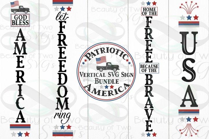 4th of July Vertical svg sign bundle, America sign svg
