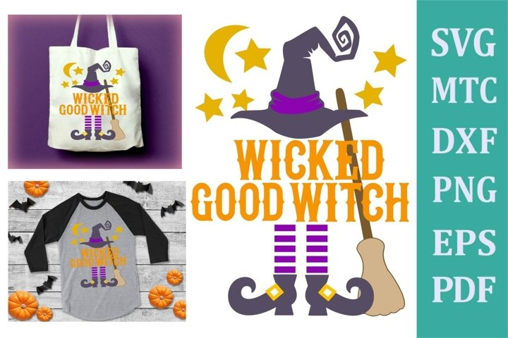 Wicked Good Witch Halloween Design #02 Crafting SVG Cut File