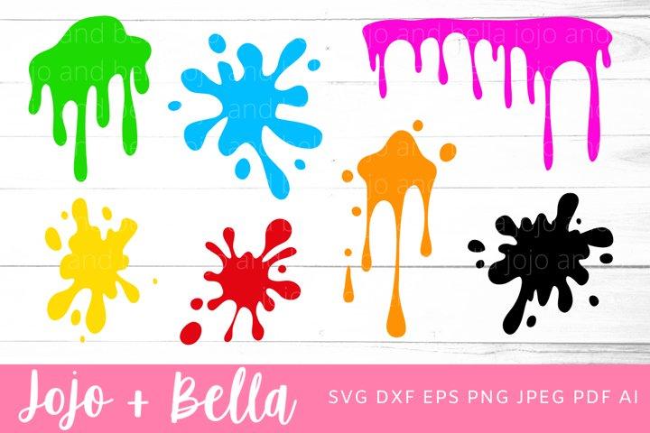 Paint Splatter Svg Bundle |Paint SVG