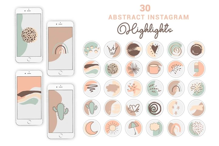 Boho Abstract Instagram Highlights   Story Cover Icons
