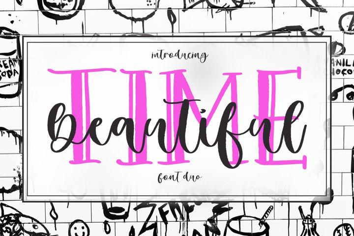 Beautiful Time Font Duo