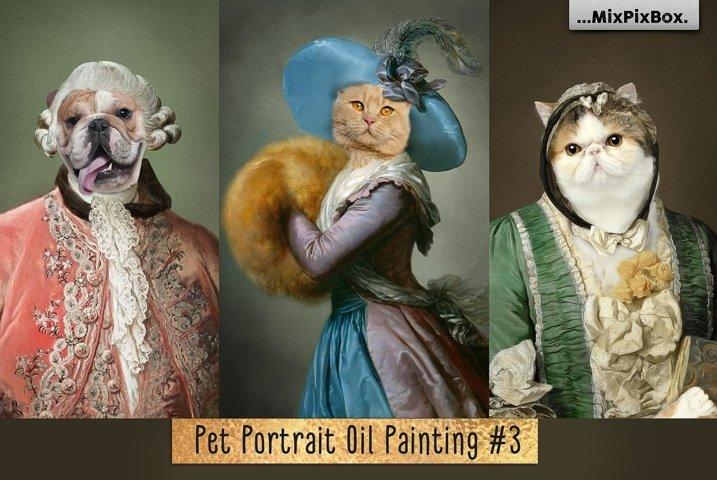 Pet Portrait Oil Background v.3