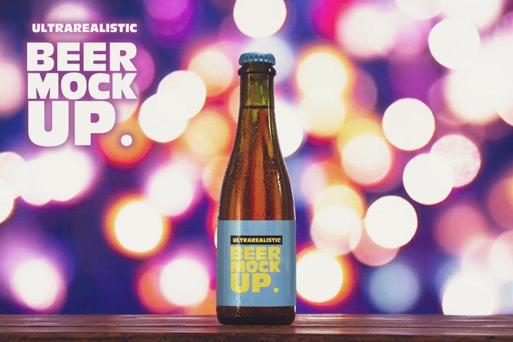 375ml Light Blur Beer Mockup