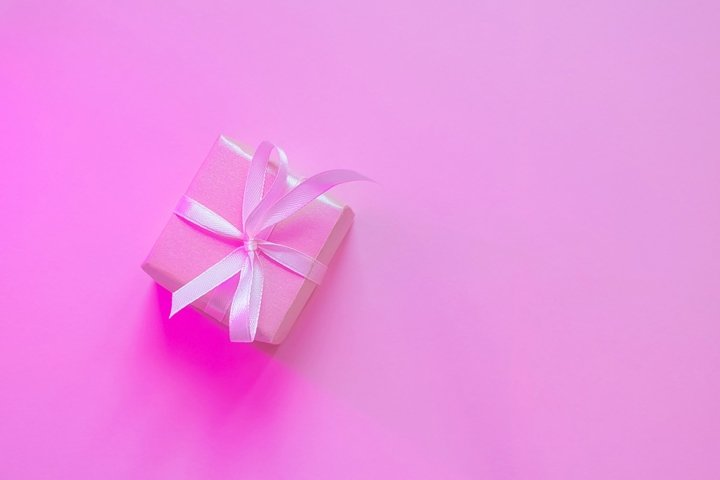 Small square pink gift