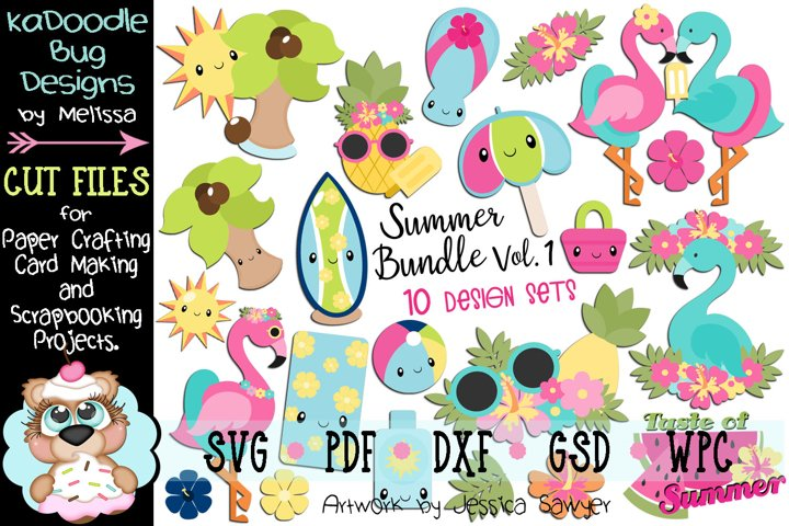 Summer Bundle Set Vol.1 - 10 Cut File Designs - 22 Pieces