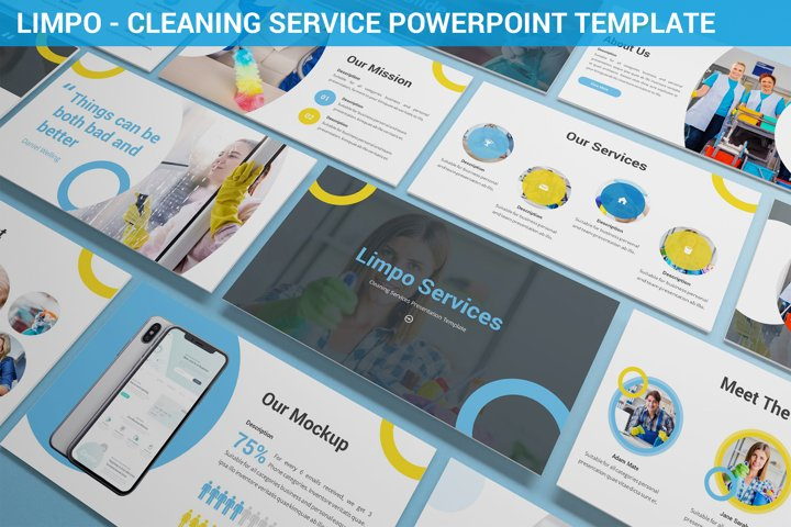 Limpo - Cleaning Service Powerpoint Template