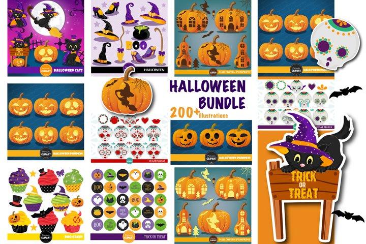 Halloween bundle, Halloween illustrations, Halloween pumpkin