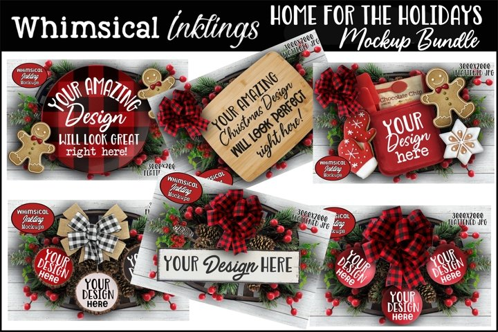 Home For The Holidays Christmas Mockup Bundle