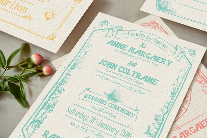 Whimsical Forest Wedding Invitation Suite