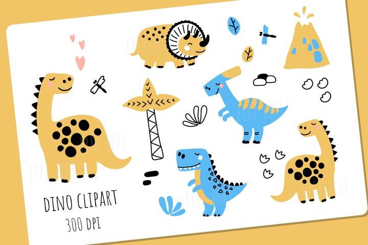 Dinosaur clipart. Cute dinosaur. Dinosaur bundle