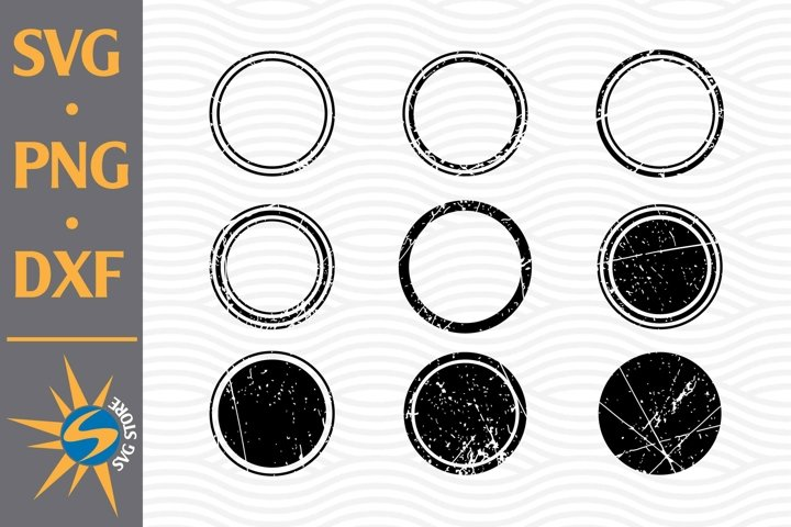 Distressed Circle SVG, PNG, DXF Digital Files Include