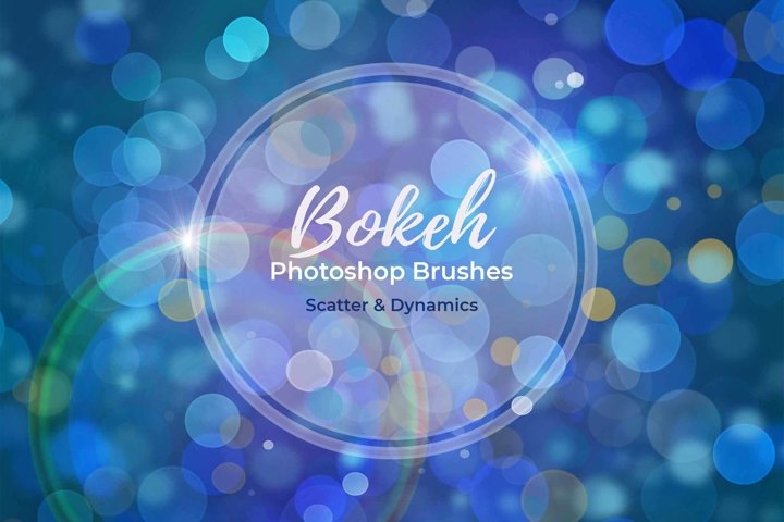 15 Bokeh Photoshop Brushes abr. - Scatter & Dynamics example 5