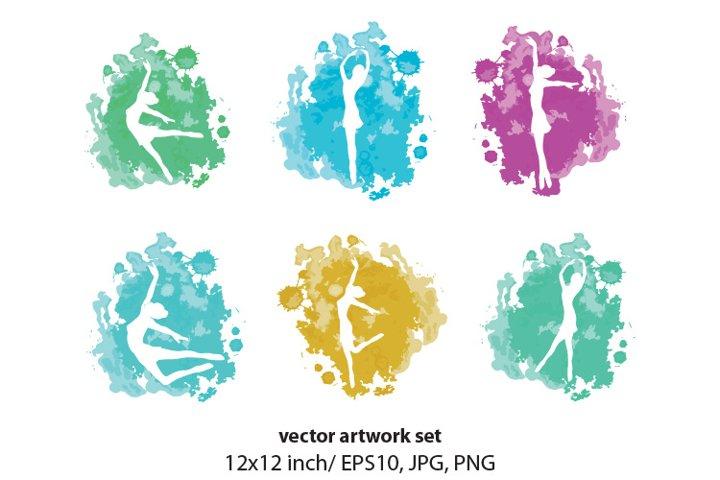 ballerina - vector artwork set