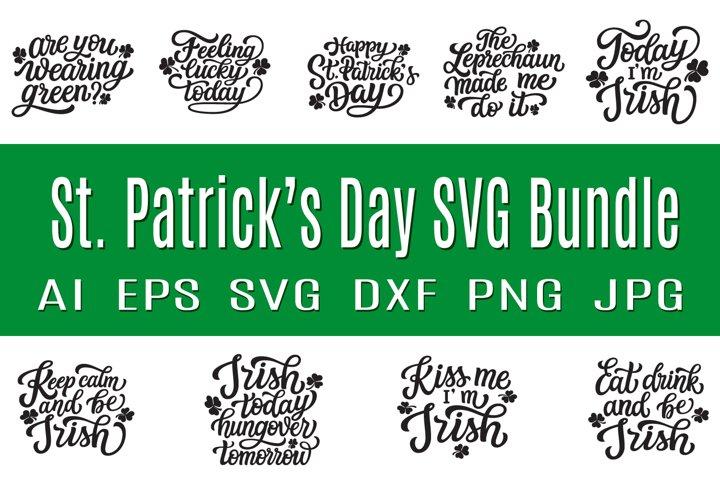 St. Patricks Day SVG bundle. 9 quotes