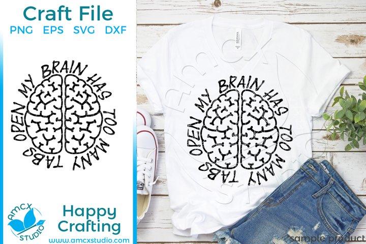 My brain Craft SVG example 1