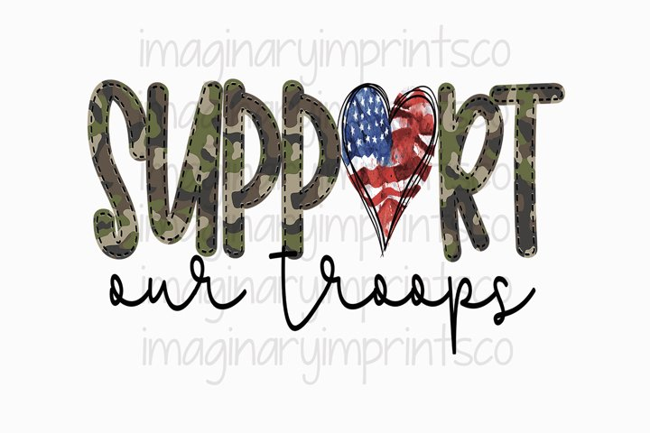 Support Our Troops sublimation png